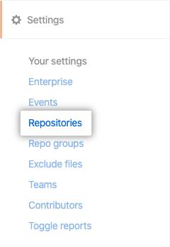 Repositories tab