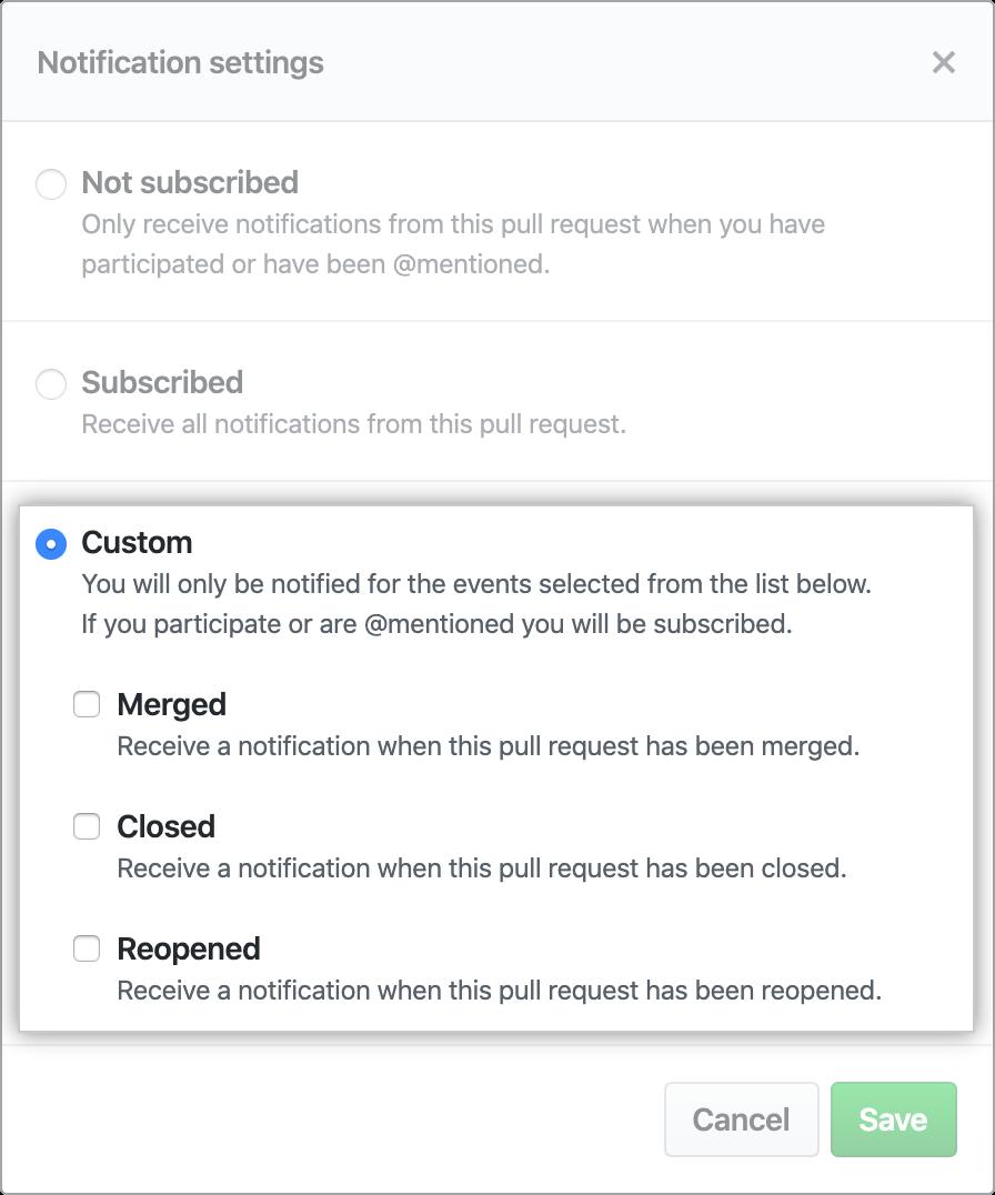 Opções para notificações personalizadas