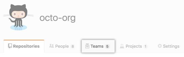 """Registerkarte """"Teams"""""""