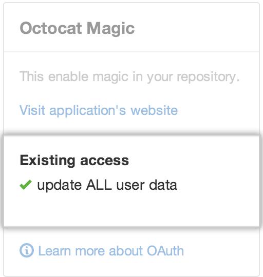 サードパーティアプリケーションのアクセスを変更する