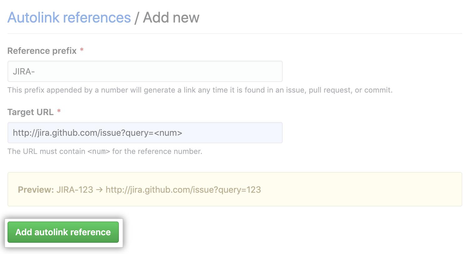 自動リンクの参照を追加するボタン