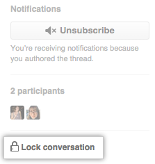 [Lock conversation] リンク