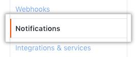 Botão de notificações na barra lateral