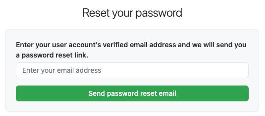 密码重置电子邮件请求对话框