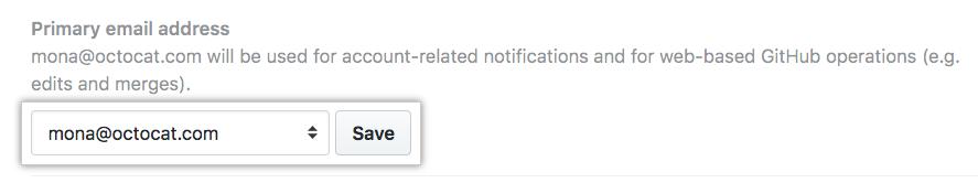 设为主电子邮件地址按钮