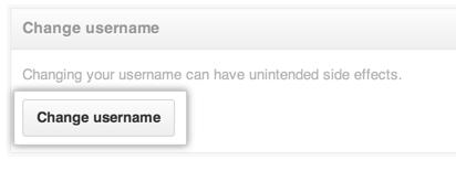 Change Username button
