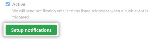 Botão para configurar notificações