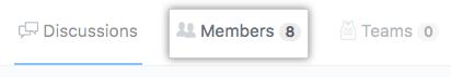 "Registerkarte ""Members"" (Mitglieder)"