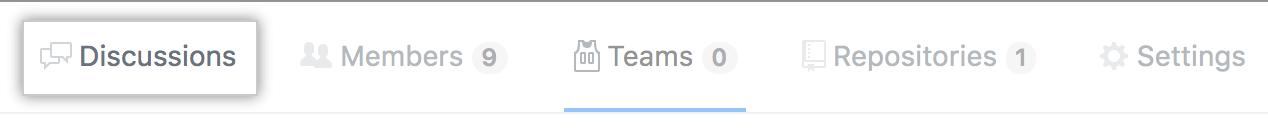 """Registerkarte """"Team discussions """" (Teamdiskussionen)"""