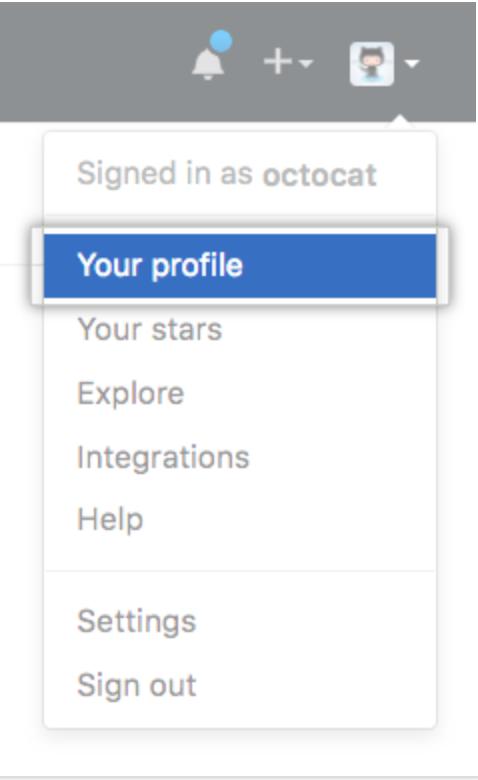 Navigation to profile