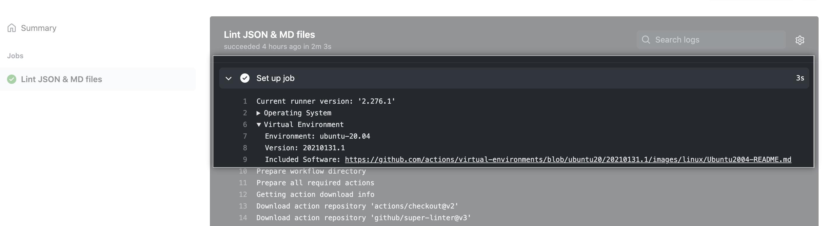 Installed software link