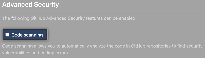 Checkbox to enable or disable escaneo de código