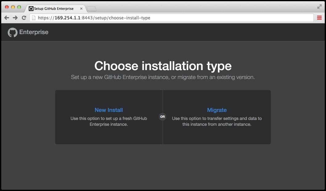 Choosing install type