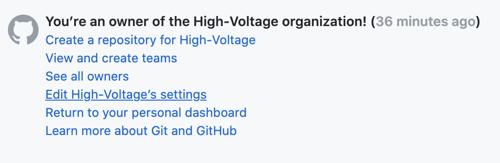 Edit organization settings