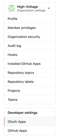 Select OAuth Apps
