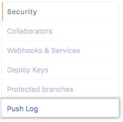 Push log tab