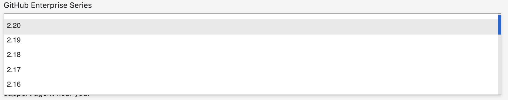GitHub Enterprise Series drop-down menu
