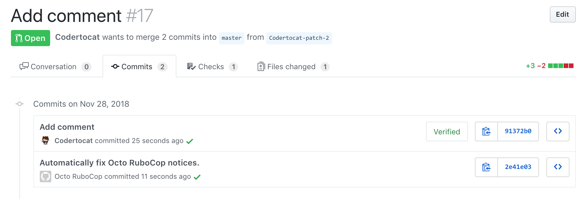 A new commit to automatically fix Octo RuboCop notices