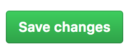 Button to save changes for your GitHub App