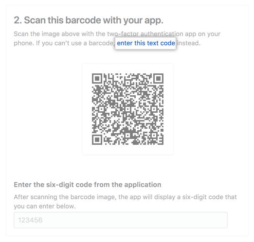 Click enter this code