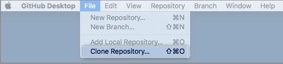 Mac アプリケーション内の [Clone] メニューオプション