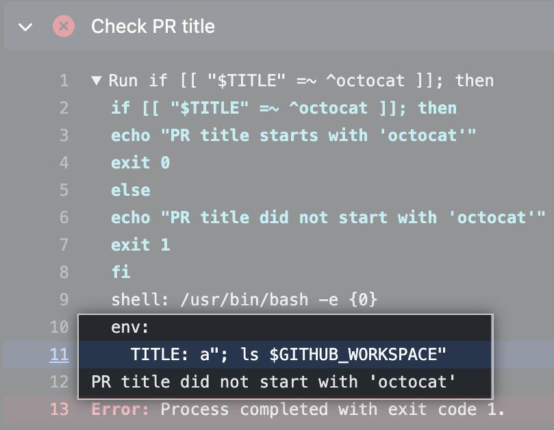 Exemplo de injeção de script mitigado