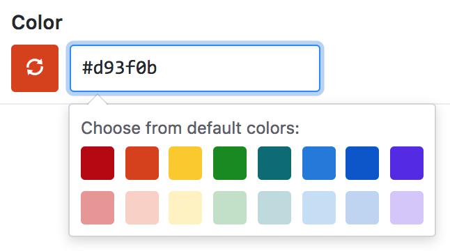 Emite uma nova cor da etiqueta quando atualizada
