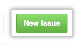 """Schaltfläche """"New Issue"""" (Neuer Issue)"""