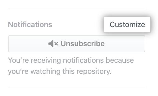 """Anpassungs-Option under """"Notifications"""" (Benachrichtigungen)"""