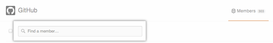 Organization member search box