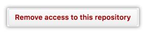 Botão Remove access to this repository (Remover acesso a este repositório)