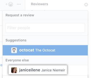 Symbol für Reviewer-Einstellung in der rechten Seitenleiste