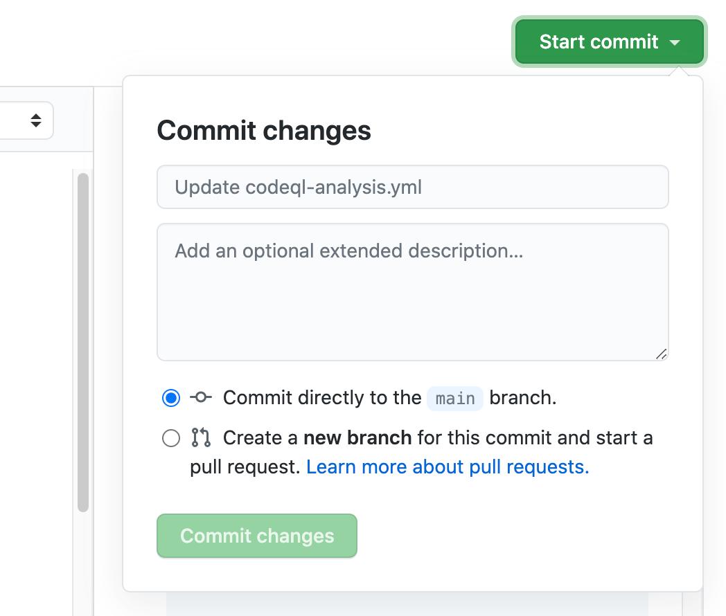 Atualização do commit para o fluxo de trabalho do codeql.yml