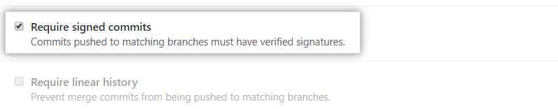 必需签名提交选项