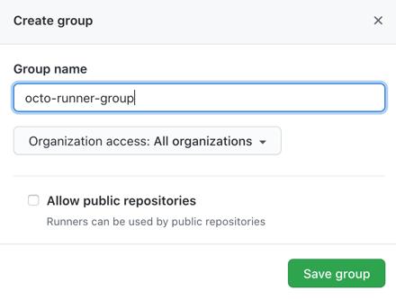 Adicionar opções de grupo de executores