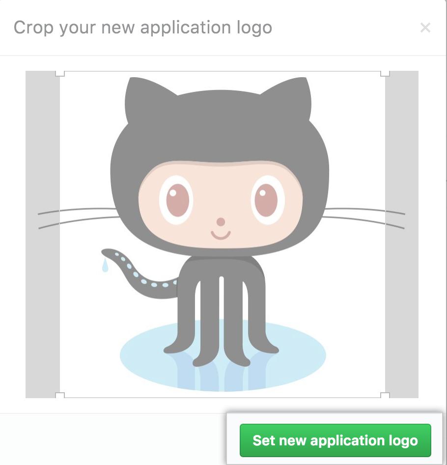 Crop and set logo