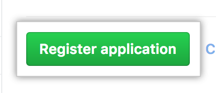 Button to register an application